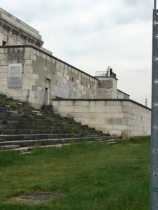 Where Hitler stood for speeches at the party rally grounds