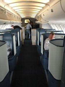 Upper-deck for the back part of business class