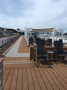 Deck 4 (The Sun Deck) outdoor seating