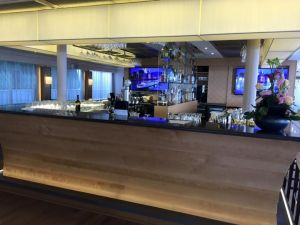 The bar area in the lounge