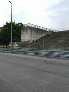 This section had been partially torn down due to safety concerns