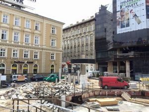 Construction and roadwork all over Budapest
